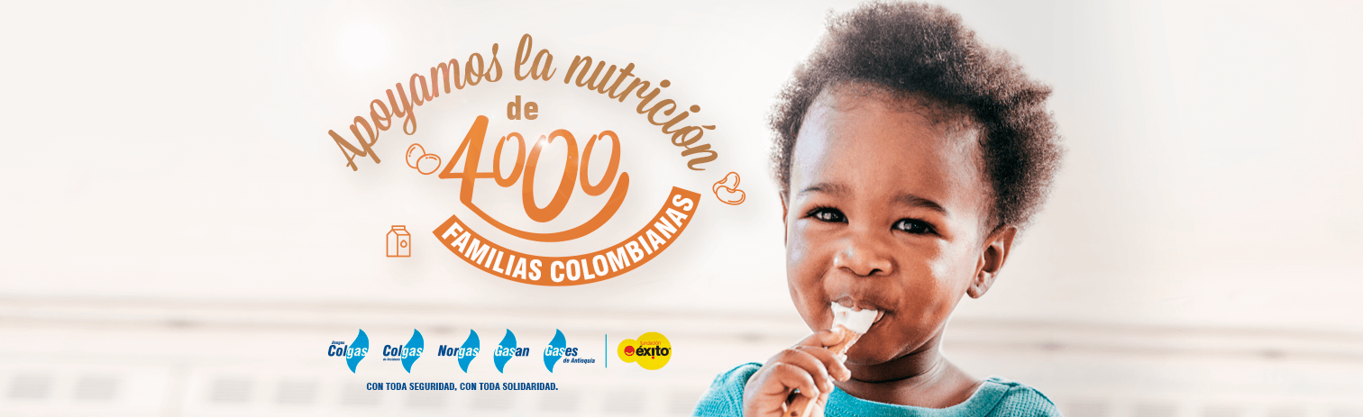 Apoyamos la nutrición de 4000 familias colombianas