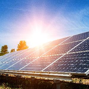 Un panel solar grade