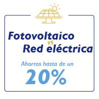 """Ilustración de frase """"Fotovoltaico Vs Red electrica"""""""
