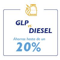 """Ilustración de frase """"GLP VS Diesel"""""""