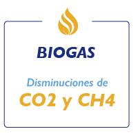 """Ilustración de frase """"BioGas CO2 y CH4"""""""