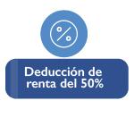 Ilustración de porcentaje de reducción del 50 porciento